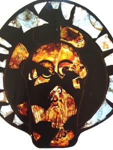 gebrandschilderd ikoon 9e eeuw