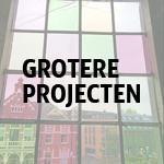 Grotere projecten glas-in-lood atelier De Glazen Zee
